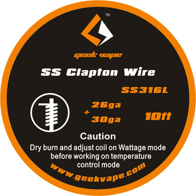 GeekVape Clapton SS316 Tape Wire, 3m