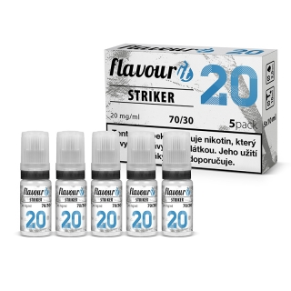 Flavourit STRIKER - 70/30 - Dripper 20mg booster, 5x10ml