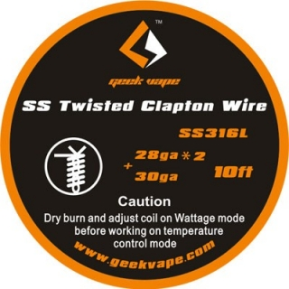 GeekVape Twisted Clapton SS316 Tape Wire, 3m